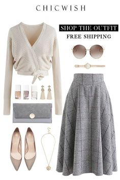 Liebe meines Lebens Grid A-Line Rock – business professional outfits offices Mode Outfits, Fashion Outfits, Womens Fashion, Fashion Trends, 90s Fashion, Korean Fashion, Fashion Tips, Looks Chic, Looks Style