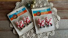 Check out this item in my Etsy shop https://www.etsy.com/listing/494649317/kitsch-retro-santa-christmas-ornament