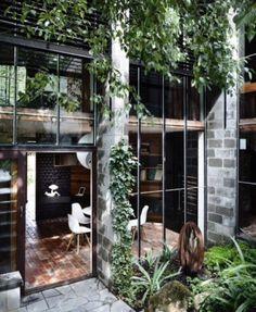 House Design Architecture Modern Arquitetura 41 Ideas For 2019 Design Exterior, Interior Exterior, Interior Architecture, Industrial Architecture, Garden Architecture, Modern Interior, Cafe Exterior, Exterior Windows, Scandinavian Interior