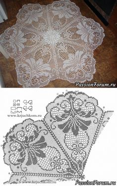 kira crochet scheme no 42 Crochet Stitches Patterns, Thread Crochet, Crochet Motif, Irish Crochet, Cross Stitch Patterns, Knitting Patterns, Lace Doilies, Crochet Doilies, Crochet Flowers
