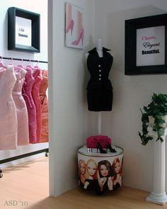 Barbie fashion display