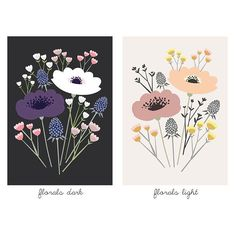 Taxonomy of colors #floral #illustration #flowers #flower #bouquet #colorscheme #drawing #illustrator #illustrations #floralprint #art #poppies #etsy #etsyshop