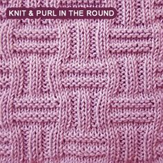 [Knitting in the round] Double basket pattern combines ribs and ridge patterns. Using only knit and purl stitches,