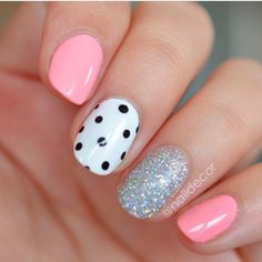 01 Top Best Beautiful Nail Polish Ideas Color And Style Https Nail Art 2754 Plain Nails Lave. Dot Nail Designs, Simple Nail Art Designs, Best Nail Art Designs, Nails Design, Easy Designs, Accent Nail Designs, Gorgeous Nails, Love Nails, How To Do Nails