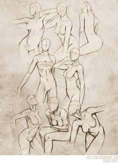 """Female Body Study II"" - Jinx-Star, DeviantArt.com"