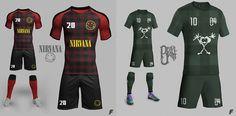 E se as bandas de Rock virassem clubes de futebol? Imagina os uniformes... | Blog Brasil Mundial FC | Globoesporte.com