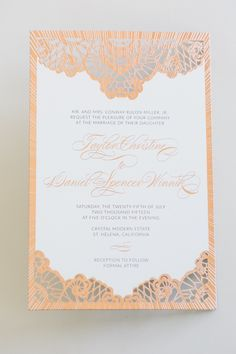 Yonder Design | Laser cut, Foil, Rose Gold Foil, Wood Veneer, Wedding…