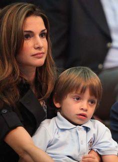 Rania de Jordania y el príncipe Hashem