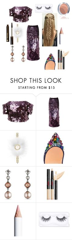 """Untitled #48"" by sooou ❤ liked on Polyvore featuring Fendi, Christian Louboutin, Carolee, Luz Lashes and Dr.Hauschka"