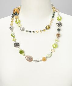 Take a look at this Green Maggiest Artisan Mix-n-Match Necklace & Bracelet Set by Alexa's Angels on #zulily today!