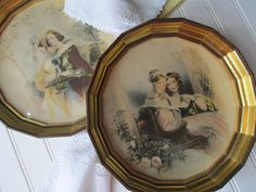 Beautiful Vintage Victorian Style Wall Hanging Pair by jenscloset, $32.50