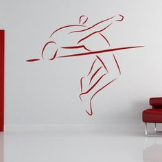 High Jump Creative wall decoration designed special for those high jumpers who love high jumping themed decorations in their rooms.