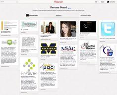 How to Make a Pinterest Resume - blog I wrote for @hiredMYway.com.com.com.com about my board!