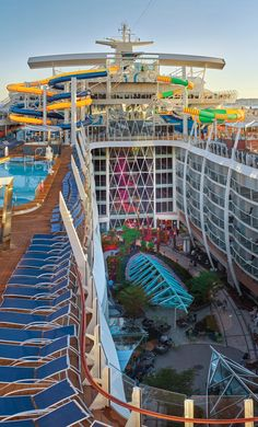 Harmony of the Seas   The Perfect Storm = a perfect day. Cruise with Royal Caribbean onboard Harmony of the Seas and take a trip down a triumvirate of unique water slides. After you've conquered the Storm, don't miss a trip down The Ultimate Abyss, the world's tallest slide at sea.