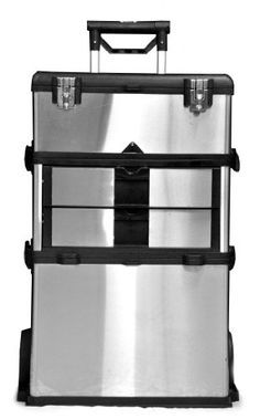 TRINITY 3-in-1 Stainless Steel Suitcase Toolbox Trinity 110 Product Dimensions: 12.5 x 21.5 x 33.2 inches ; 35.6 pounds