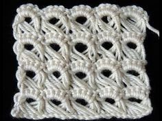Cuello - Bufanda en Crochet (Ganchillo)- Punto Escoba o Broomstick Lace - YouTube