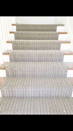 The only natural stair runner from Tuftex Carpets of California. - home accessories - only natural stair runner from Tuftex Carpets of California.The only natural stai Farmhouse Stairs, Stair Runner Carpet, Staircase Design, Foyer Decorating, Stair Makeover, Carpet Flooring, Runner Rug Entryway, Stairs, Patterned Stair Carpet