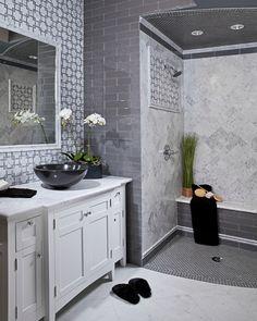 Modern Bathroom. Love the curbless shower!