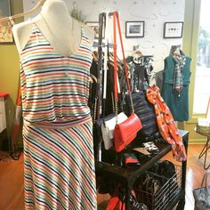 Only a few left of this gorgeous @veronicamclothing maxi.  Perfect piece for a rainy day. @adorn512 #notice #andersonville #maxidress #rainyday #shopsmall