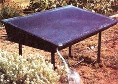 With the sun's energy,this simple single-basin, passive-solar distiller can produce up to 4 gallons of purified water per day. Solar Energy Panels, Best Solar Panels, Solar Energy System, Solar Roof Tiles, Solar Solutions, Passive Solar, Solar Water, Solar Charger, Water Purification