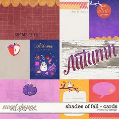 Shades of Fall - Cards by Red Ivy Design