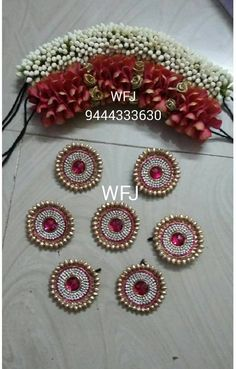 To get one for yourself or for your friends and relatives for their wedding kindly contact 8779268166 . Indian Bridal Hairstyles, Dance Hairstyles, Bride Hairstyles, Flower Garland Wedding, Bridal Hair Flowers, Henna Designs, Flower Designs, Bridal Hairstyle For Reception, Bridal Decorations