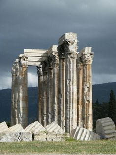 Temple of Olympian Zeus, Athens, Greece Greece Tours, Greece Travel, Athens City, Athens Greece, Wonderful Places, Beautiful Places, Greece Architecture, Ancient Greek Theatre, Places To Travel