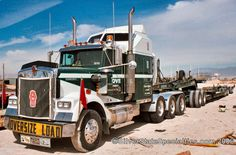 SilverStateSpecialties.com Reference Section: Kenworth W900L with Lowboy Trailer