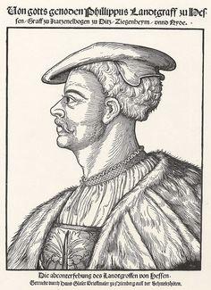 Title: Porträt des Landgrafen Philip von Hessen              Tags: Hat, Shirt              Date: ca. 1530                        Artist: Erhard Schoen              Provenance: Germany              Collection: Herzogliches Museum (Landesmuseum)