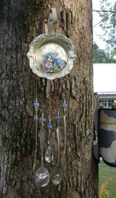 silverware windchimes,silverware windchimes