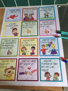 Kompisvecka – Språkutveckling – ASL School Classroom, School Teacher, Pre School, Educational Activities For Kids, Social Activities, Teacher Education, School Games, Too Cool For School, Working With Children