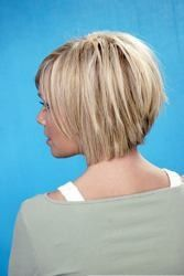 Inverted bob. PerFECT for fine hair!! ...just like the model.