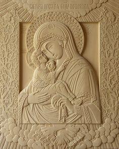 «Богородица Почаевская», 2010 г., 64х52 см (липа, резьба)