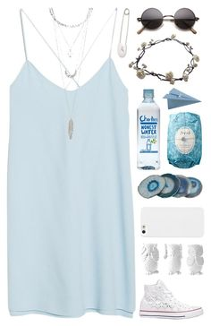 ☾A drop in the ocean, a change in the weather☽ by aliens-xx on Polyvore featuring polyvore fashion style MANGO Converse Kristin Cavallari Charlotte Russe Fresh Bartky Minerals Design 55 CB2 clothing Blue follow4follow SetsByAliensxx