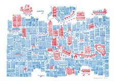 Hong Kong 2 by Steph Marshall, via Behance Mental Map, Architecture Mapping, Book Design Layout, Map Design, Logo Design, Travel Maps, Us Map, Me On A Map, City Maps