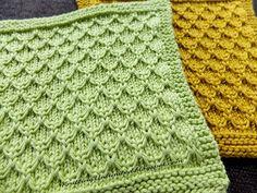 Mock Honeycomb Knit Dishcloth. Free pattern