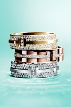 Brighten your holiday with matching diamond Tiffany T Two rings for you and that special someone.