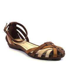 Look at this #zulilyfind! Brown Multi Allegra Leather Sandal #zulilyfinds