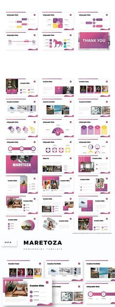 Maretoza - Powerpoint Template- Premade color variation color ) Get it now!, an great Powerpoint template for multipurpose presentation business or personal Typography Design, Branding Design, Brand Guidelines, Infographic Templates, Social Media Design, Presentation Templates, Graphic Design, Ppt Template, Proposal