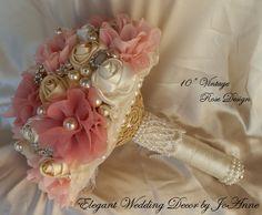 Fleur en tissu rustique parée Bouquet de par Elegantweddingdecor