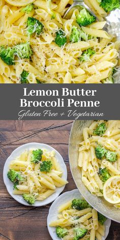 Gluten-Free Lemon Butter Broccoli Penne is a quick and easy vegetarian meal that is ready in under 30 minutes!