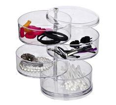 Praktischer Kosmetikorganizer mit 4 Kammern - ein transparentes Highlight!