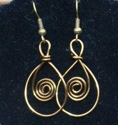 Vintaj Copper Loop and Swirl Earrings by MontourDesigns on Etsy, $15.00 by hester