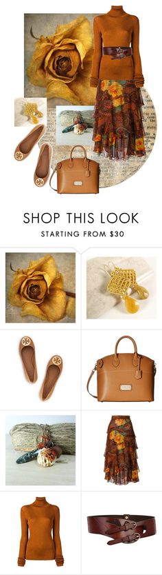 """""""Soft Gold, Rusty Orange~the Softer Sie of Autumn"""" by jillsjoyagol ❤ liked on Polyvore featuring Tory Burch, Mario Valentino, Kenzo, MARIOS, autumn, fallfashion and fallstyle"""