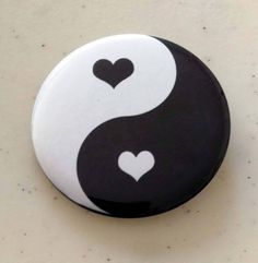 Yin Yang Pinback, Magnet Or Mirror, Set of Black And White Heart Yin Yang Pin, Blue And Red Yin Yang Pin, Acoustic Guitar Pin projects crafts crafts crafts crafts Rock Painting Patterns, Rock Painting Ideas Easy, Rock Painting Designs, Paint Designs, Canvas Patterns, Pebble Painting, Dot Painting, Pebble Art, Stone Painting