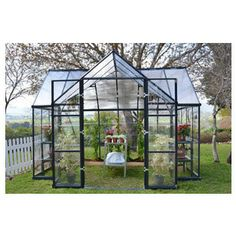 Poly-Tex, Inc. - Chalet Greenhouse Kit - Crystal clear polycarbonate provides over 90% light transmission