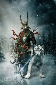 You can watch a HD Speed Art video here: youtu.be/tPOQ-VFsKhw Stock: Samurai: www.deviantart.com/art/Caucasi… Kabuto: upload.wikimedia.org/wikipedia… Tiger: sbmdestock.deviantart.com/...