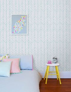 Removable chevron wall decal - Self adhesive wallpaper - adhesive wallpaper - 026 SNOW/ SEAFOAM by Betapet on Etsy https://www.etsy.com/listing/223408550/removable-chevron-wall-decal-self