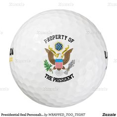 Presidential Seal Personalize Pack Of Golf Balls