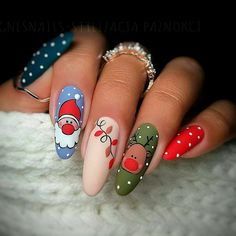 Newest Christmas Nail Art Ideas For 2019 - Page 10 of 10 - Vida Joven - -You can find Noel nails and more on our website.Newest Christmas N. Nail Art Noel, Xmas Nail Art, Xmas Nails, Winter Nail Art, Holiday Nails, Winter Nails, Spring Nails, Diy Christmas Nail Designs, Cute Christmas Nails